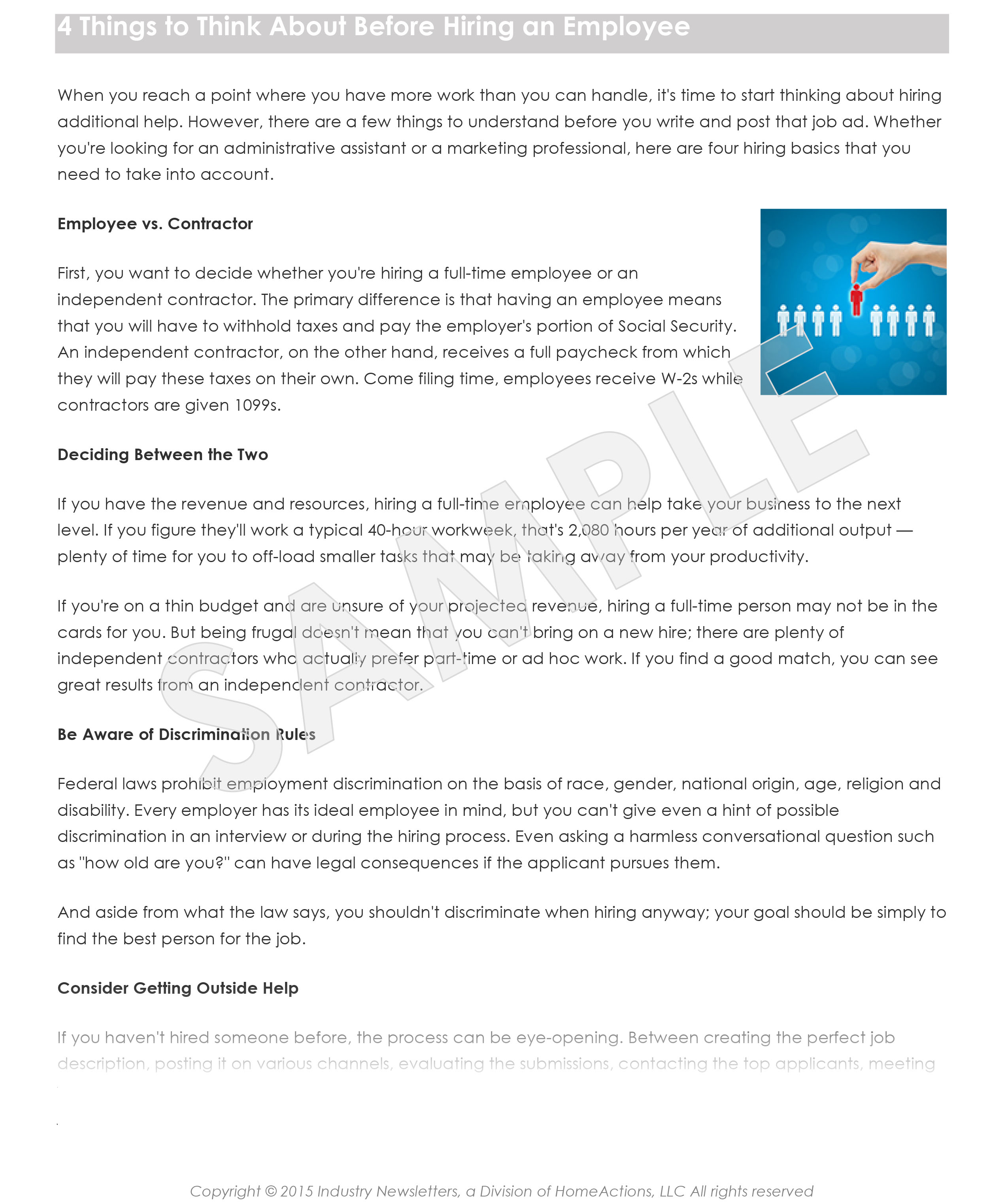 HR Administration Article Preview For Your Payroll Newsletter