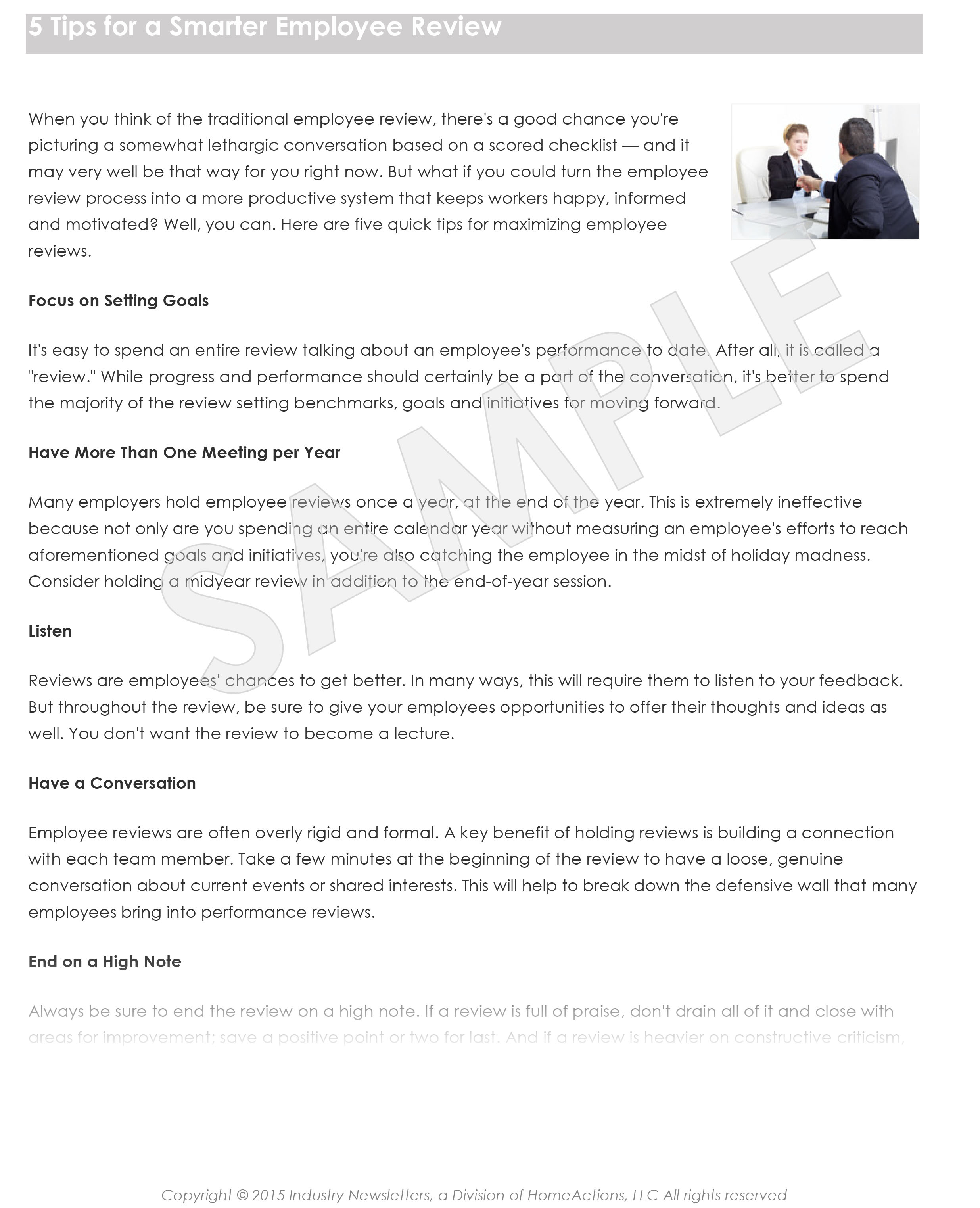 Rewarding Employees Article Preview For Your Payroll Newsletter