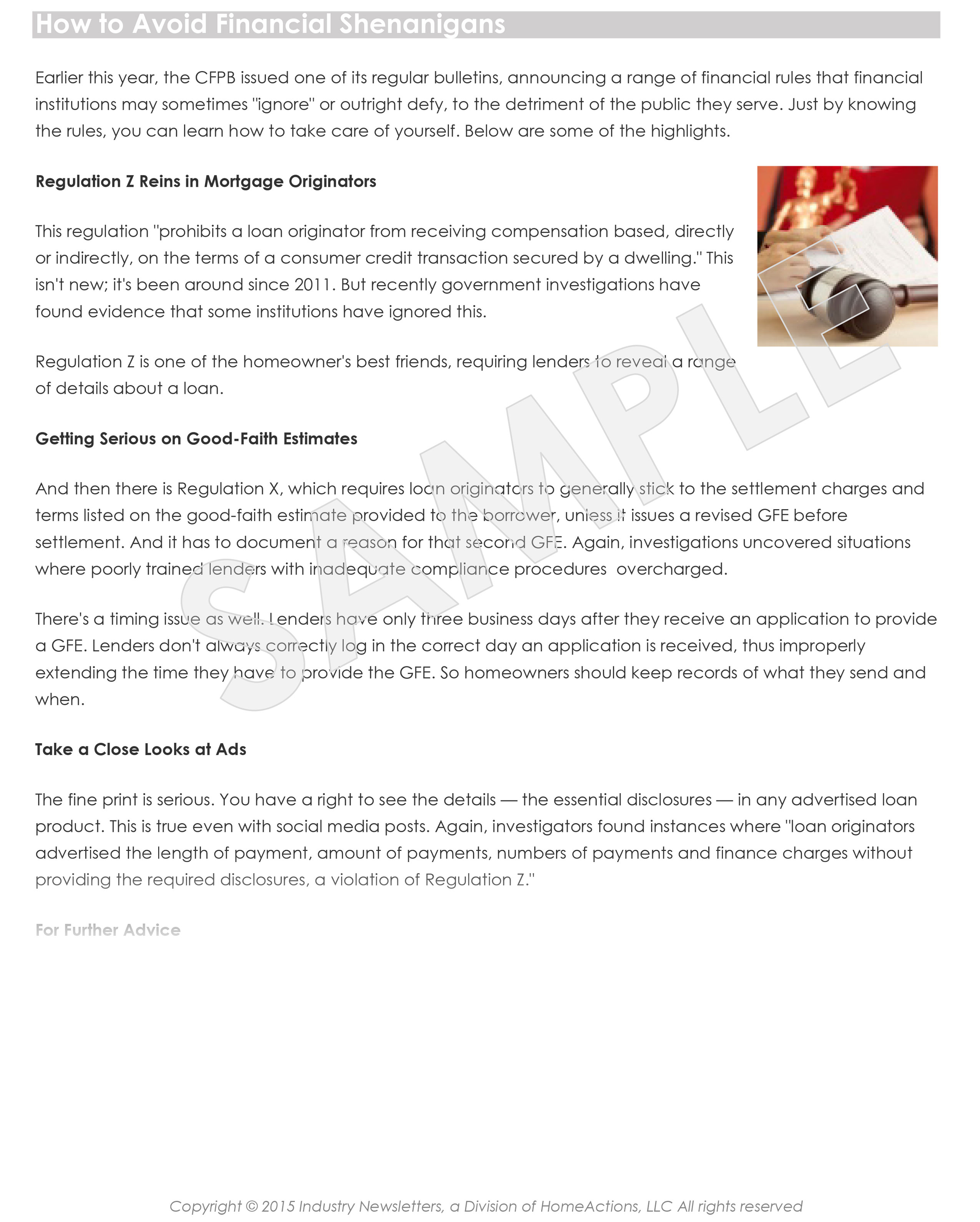 CPA Marketing Content Home Financing Email Newsletter Article Preview