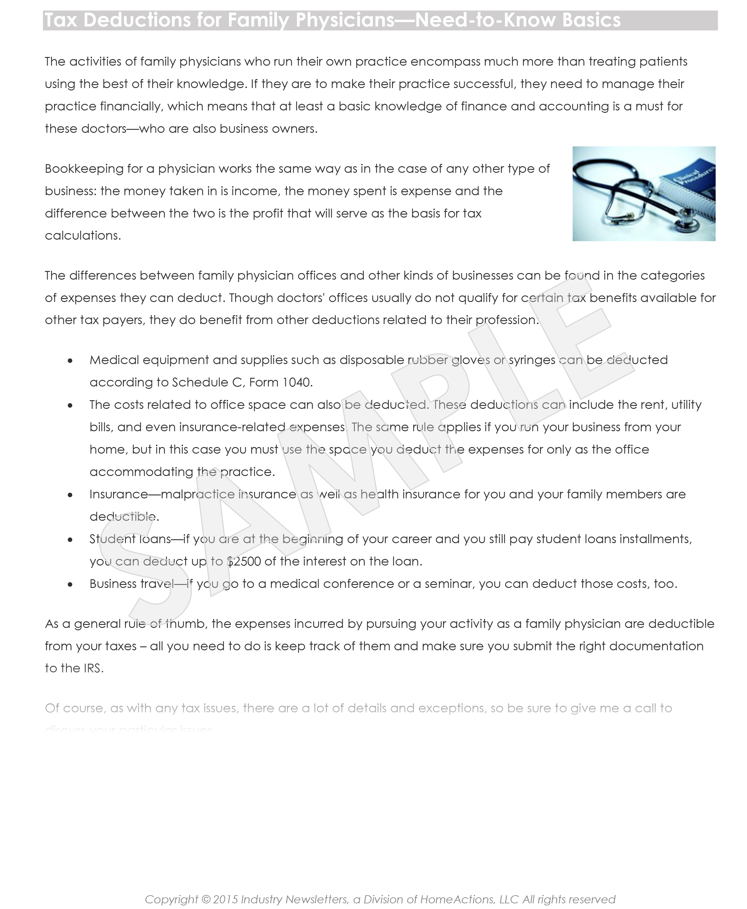 Target Market Article Example Physician Offices Industrynewsletters