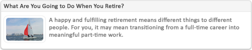 Retirement Planning Marketing Content Example