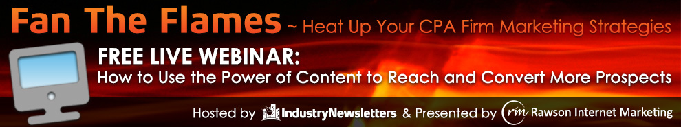 12/16 Webinar: Fan The Flames Of Accounting Firm Marketing With Our New Webinar Series