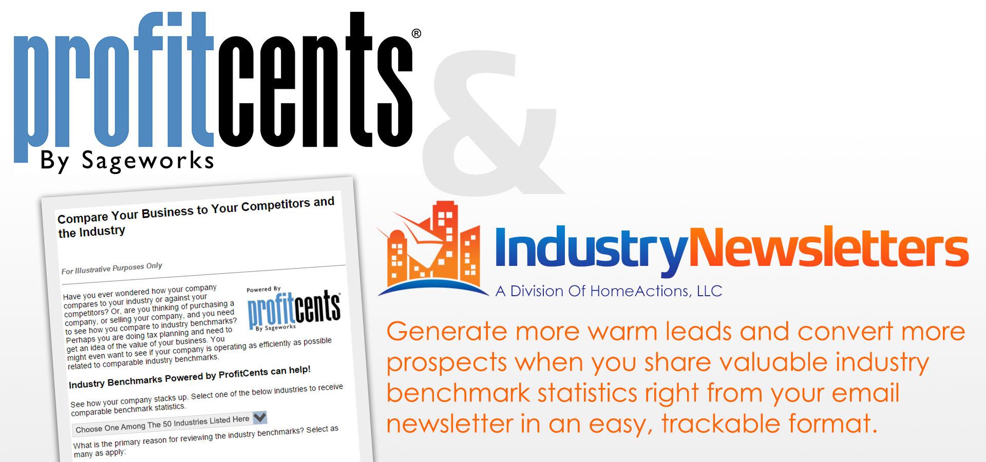 IndustryNewsletters Sageworks ProfitCents Integration