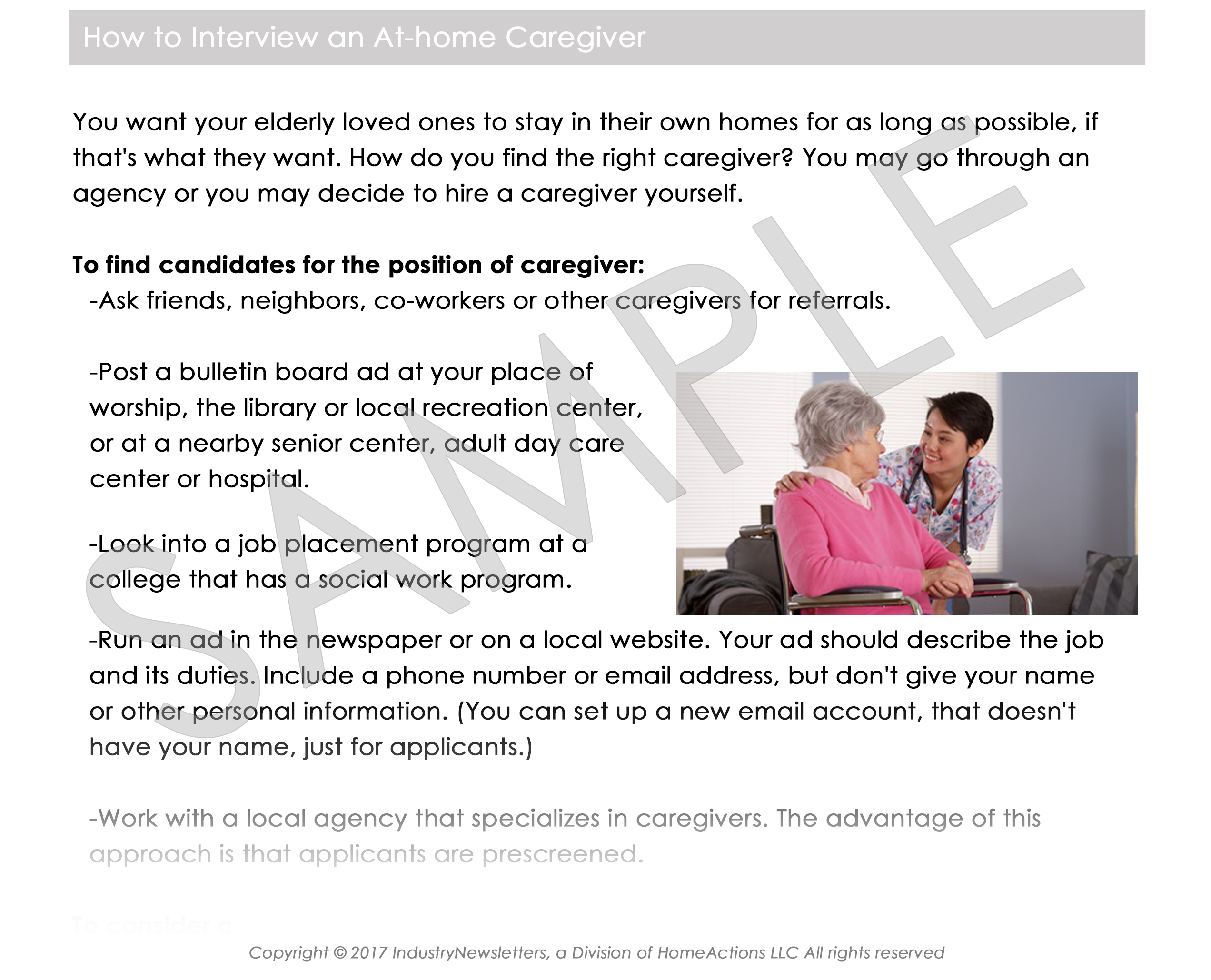 Legal Estate & Trust Elder Care Article Preview For Your Email Newsletter