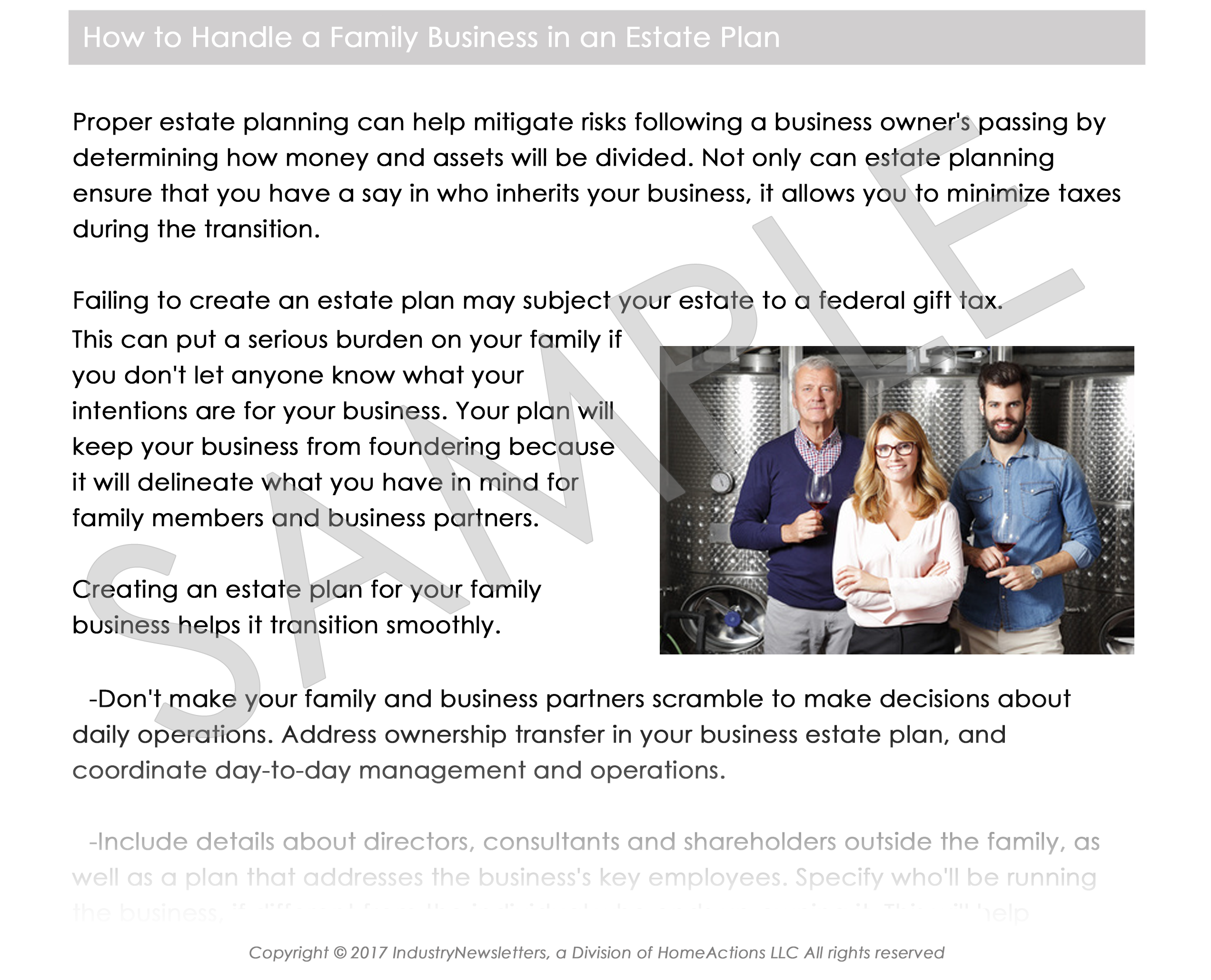 Legal Estate & Trust Estate Taxes Article Preview For Your Email Newsletter