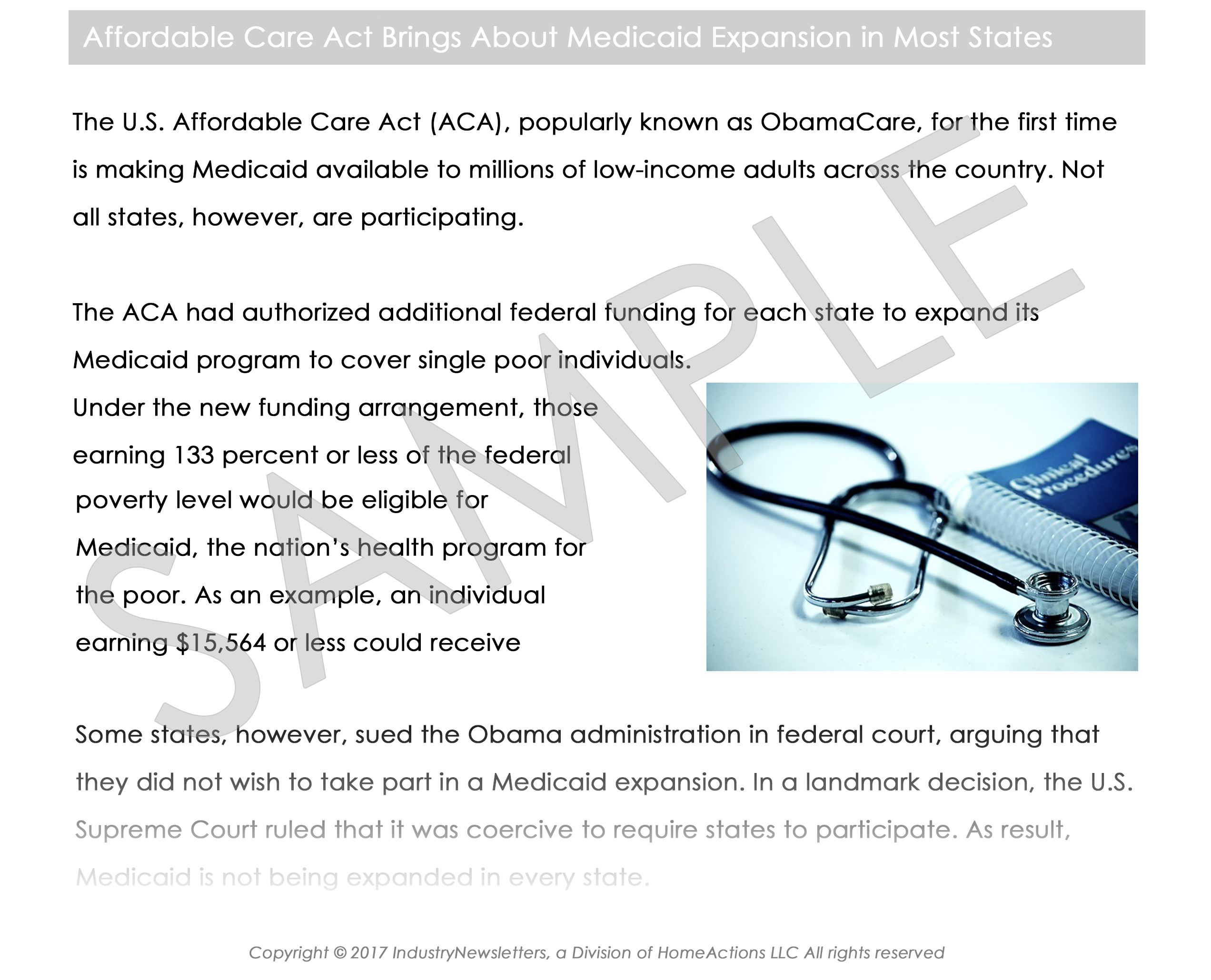 Legal Estate & Trust Affordable Care Act Article Preview For Your Email Newsletter