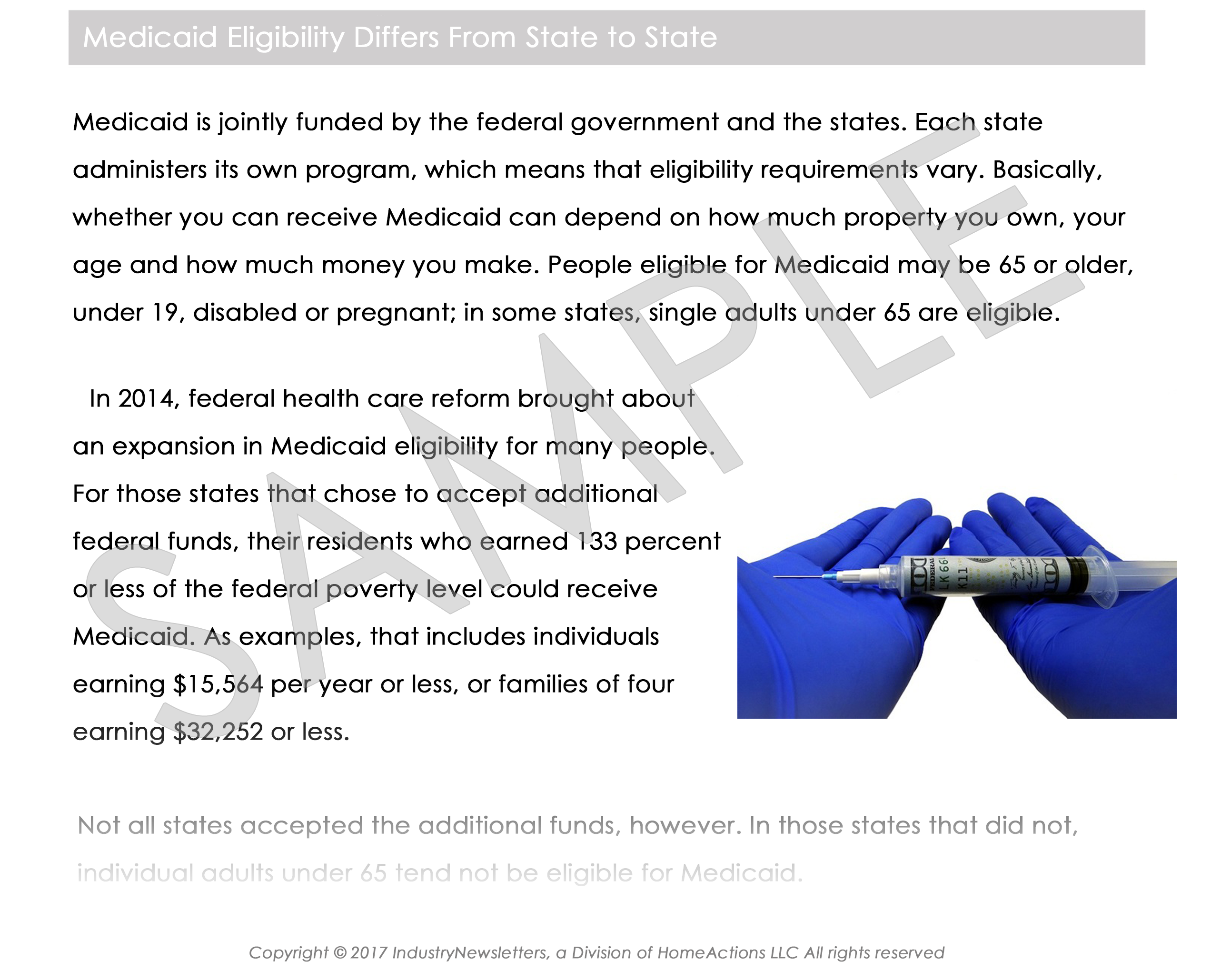 Legal Estate & Trust Medicaid Eligibility Article Preview For Your Email Newsletter
