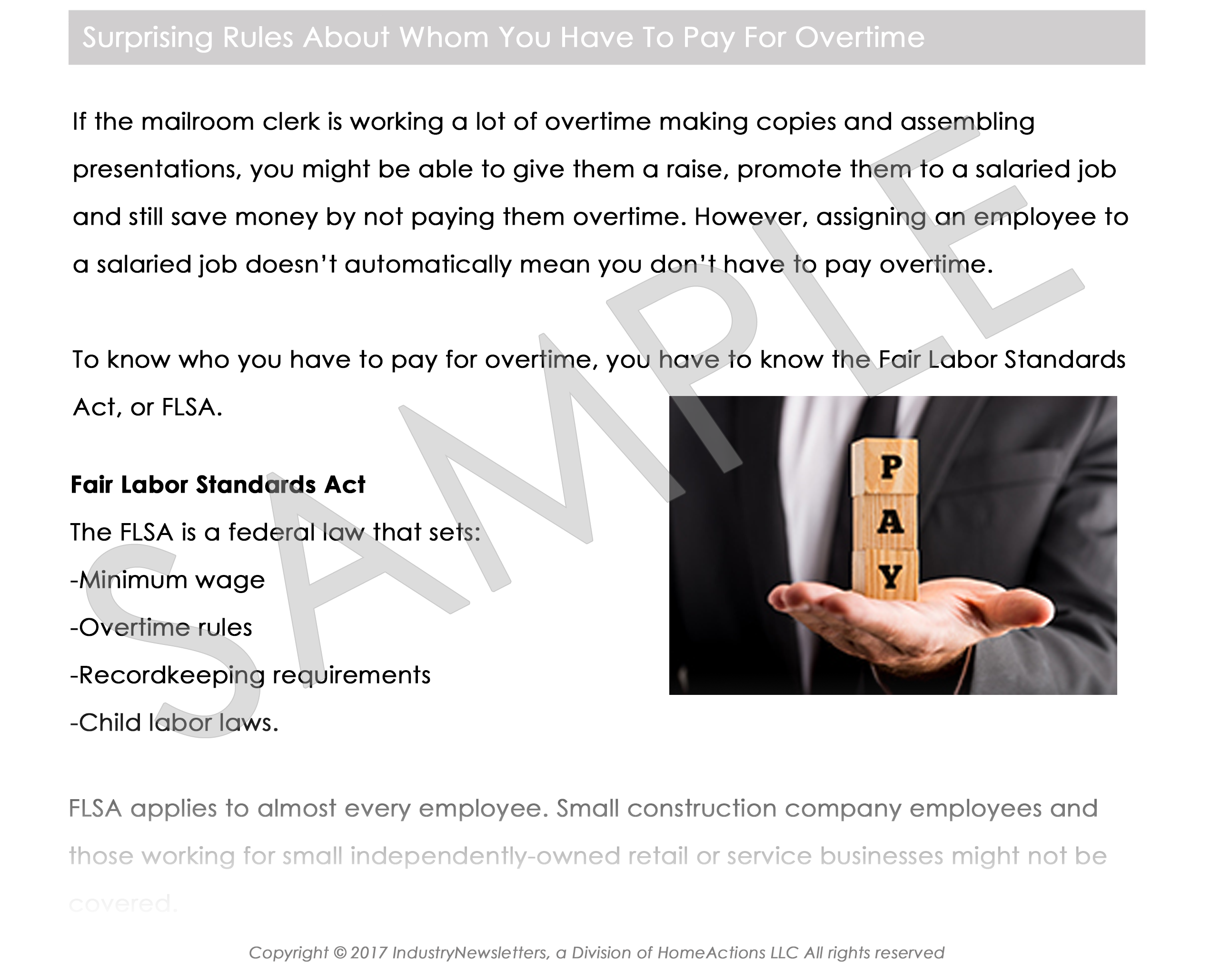 Payroll Issues Article Preview For Your PEO Newsletter