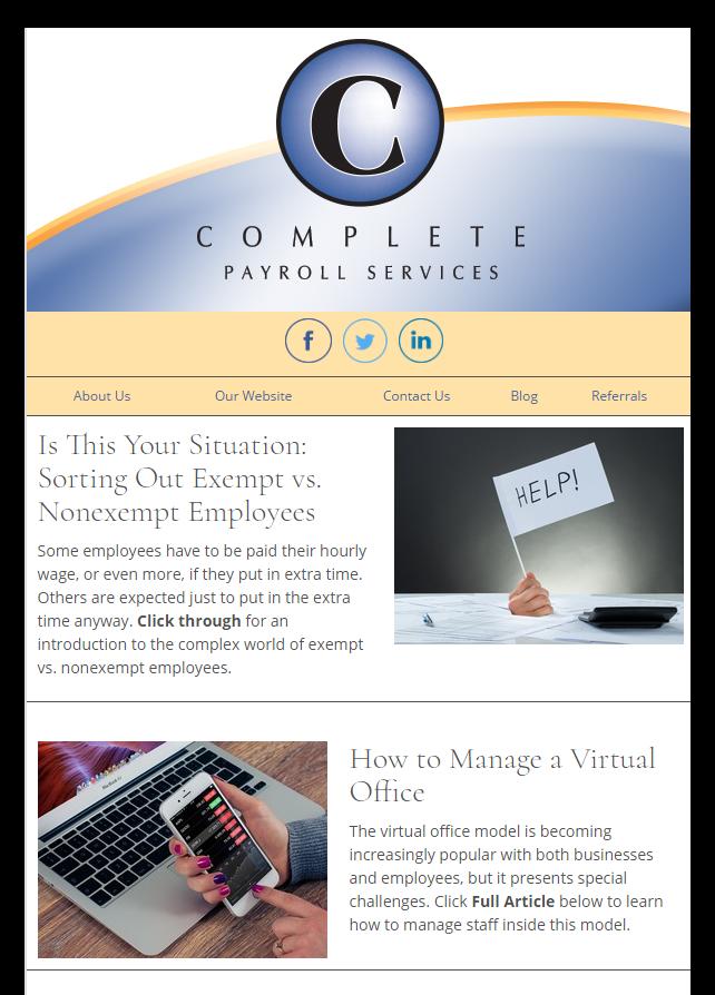 newsletter examples