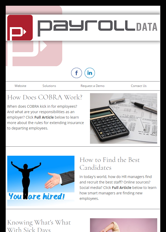 newsletter samples from our payroll clients industrynewsletters