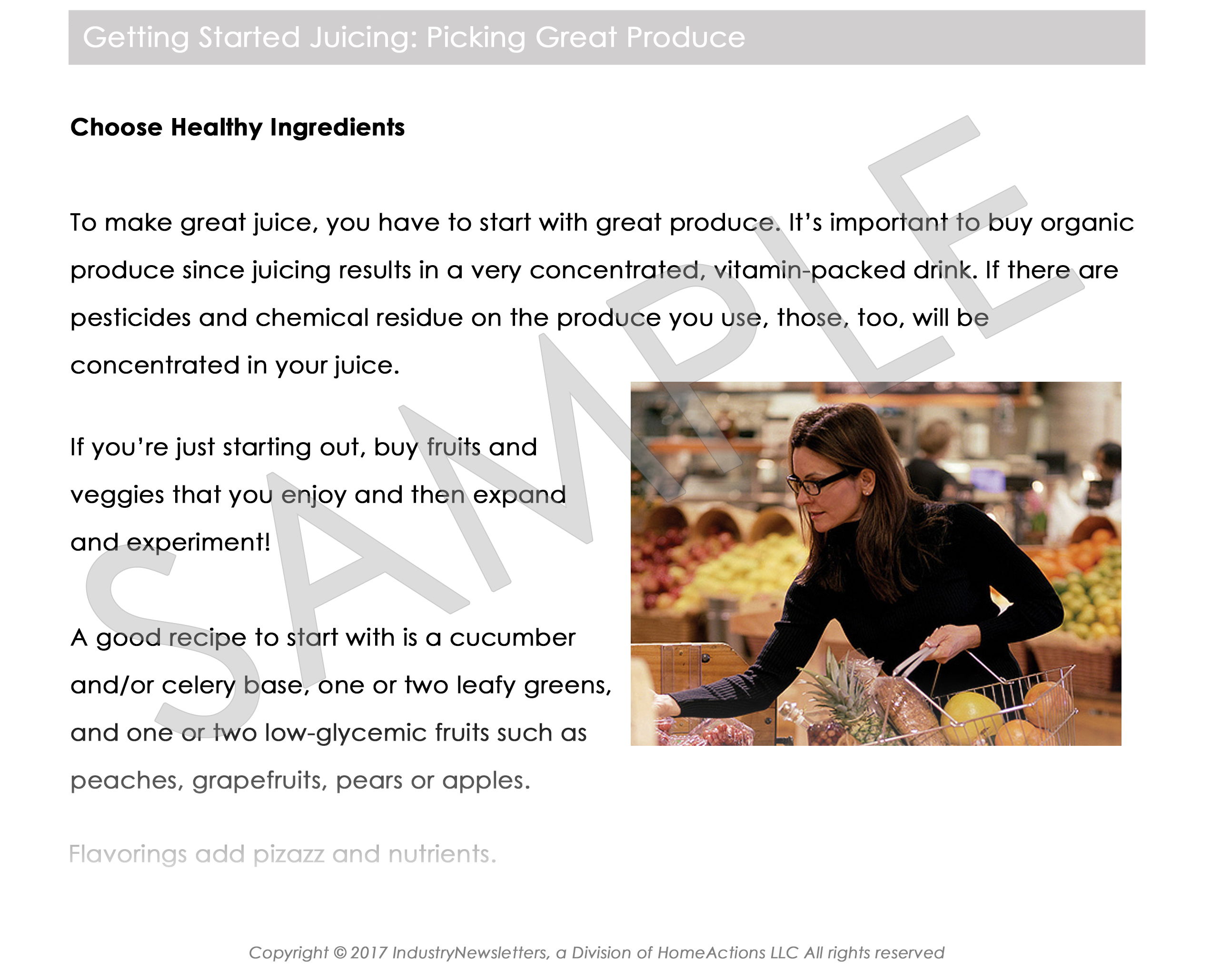 Health & Wellness Picking Great Produce Article Preview For Your Email Newsletter