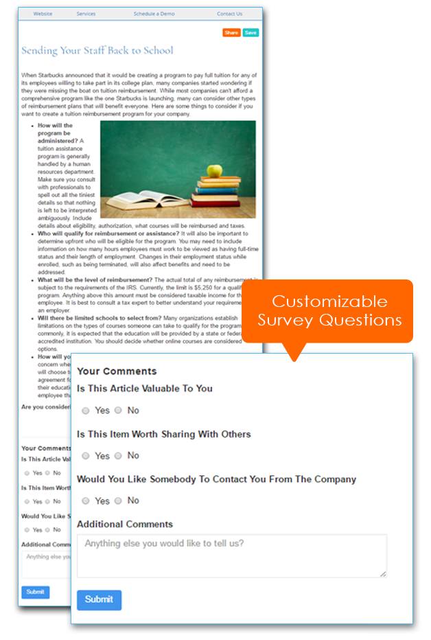 IndustryNewsletters Customizable Article Survey Tools For Your Email Marketing Newsletter