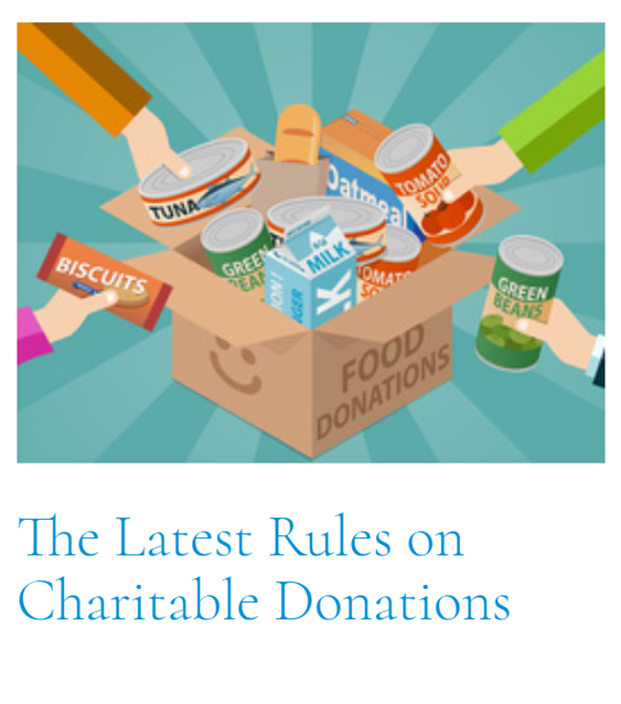 Top Article of This Cycle: The Latest Rules on Charitable Donations