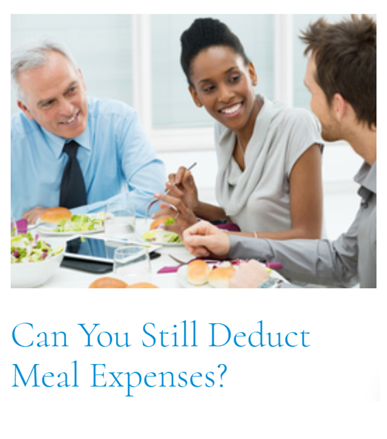Top Article of This Cycle: Property Taxes: Can You Still Deduct Meal Expenses?
