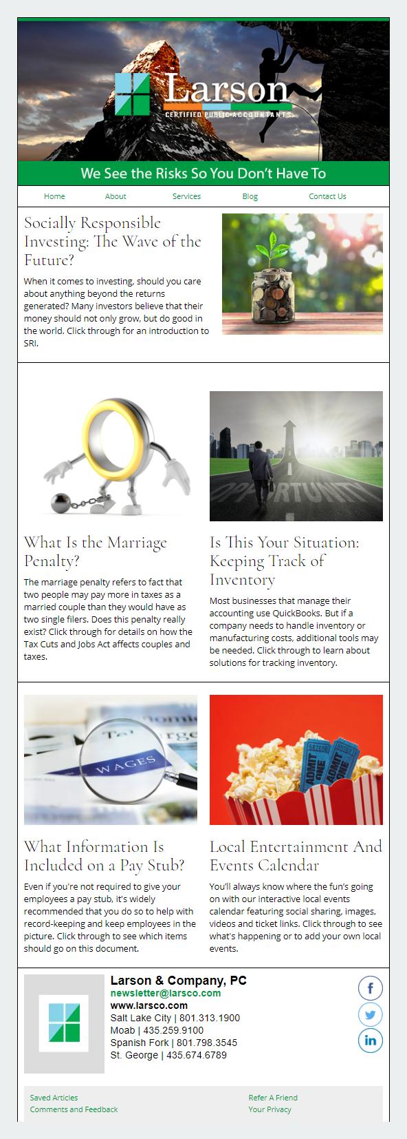 Larson CPAs- IndustryNewsletters Sample Email Newsletter