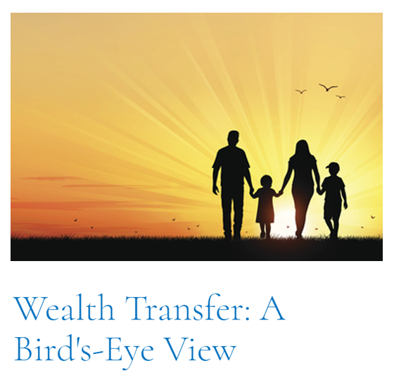 Top Article of This Cycle: Wealth Transfer: A Bird's-Eye View