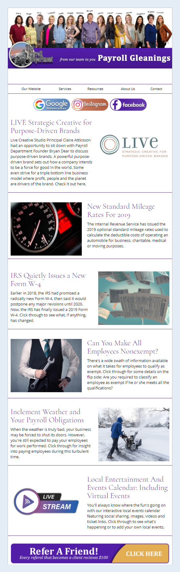 Dalby, Wendland & Co., P.C. - IndustryNewsletters Sample Email Newsletter